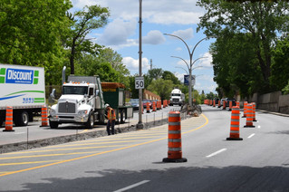 Concrete median on Boulevard des Anciens-Combattants being replaced - again