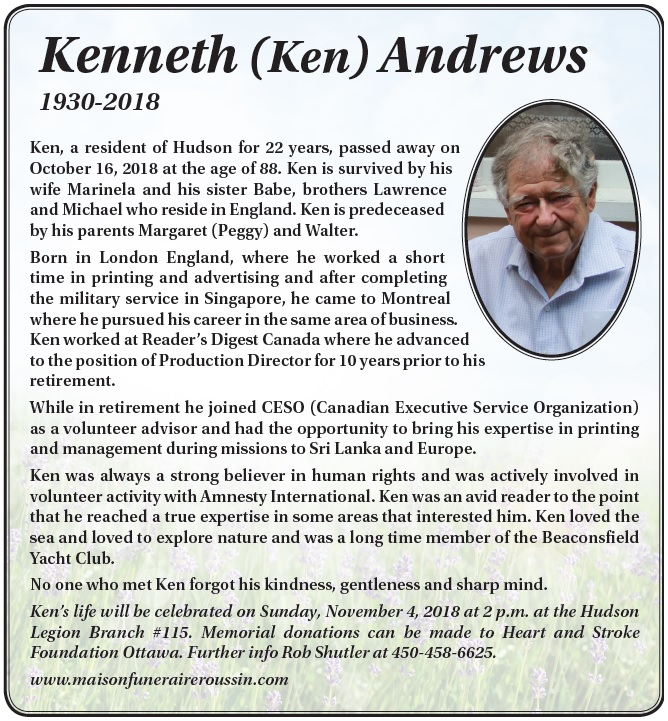 Kenneth (Ken) Andrews