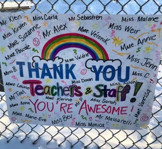Appreciation for teachers at Mount Pleasant