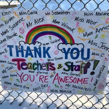 Appreciation for teachers at Mount Pleasant