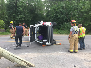 Two injured in Hudson accident