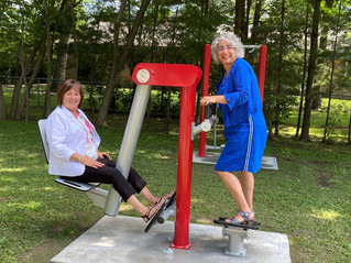 An outdoor exercise trail encourages citizens of all ages to get moving