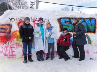 Great graffiti sprayed at Benson Park in Hudson