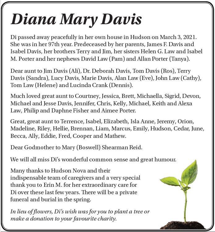 Diana Mary Davis