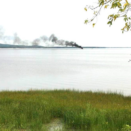 Sailboat a write-off following fire