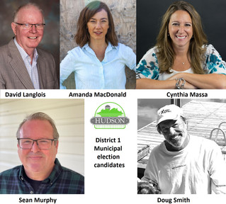 Five candidates running for District 1 council seat in Hudson