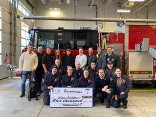 Whitlock lends helping hand to Hudson Firefighters' Christmas Basket Fund