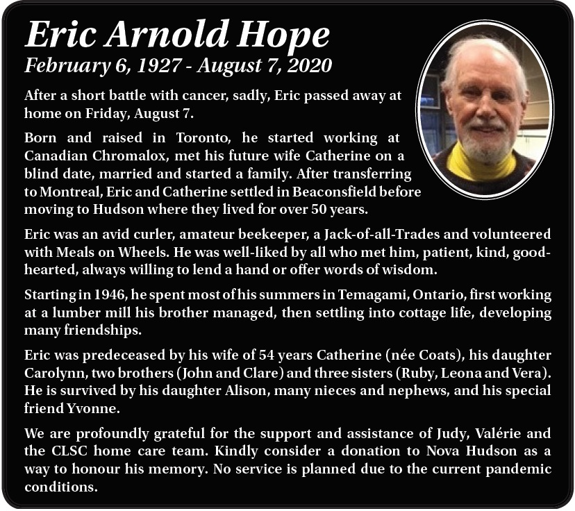 Eric Arnold Hope