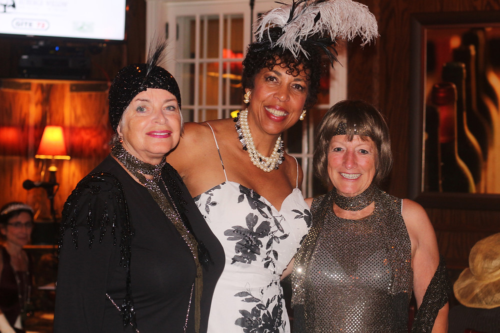 PHOTO BY FRANCIS CASTAGNA Dressed to the nines 20s style, Monique Booth, Inga Lawson and Deborah Barclay scooped up prizes for their costumes at the sensational screening of I Miss Downton Abbey by PBS Mountain Lake at Auberge Willow Inn this week.