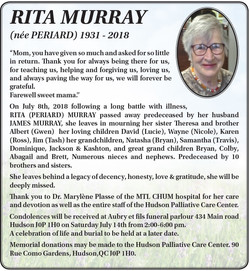 Rita Murray (née Periard)