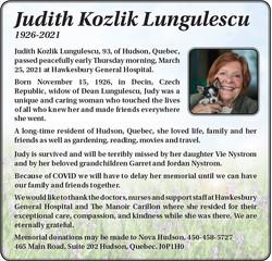 Judith Kozlik Lungulescu