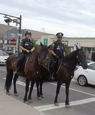 Horseback patrol by police officers is back in Saint-Lazare