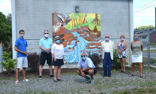 Pincourt pumping station mural unveiling