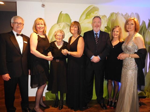 PHOTO BY JAMES PARRY Having a ball at the gala were Nova Hudson president Peter Lang, Wanda McElheron, Maxine Bredt, Judy Tellier, Ted Bird, Betty Swennen, and Brenda Lapierre.