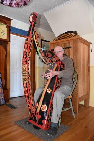 Local craftsman creates replica of Bunworth Irish harp