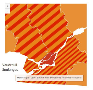Parts of Vaudreuil-Soulanges fall into 'red-zone' for COVID-19