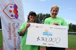 Nearly 300 participants in 'Course pour la compassion' raise $32,000 for WIPCR