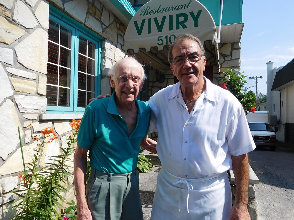 PHOTO BY JAMES PARRY Just one of the many regulars who have been visiting The Viviry since it first opened almost four decades ago, Peter Hughes is delighted that owner Christos Maziofis has returned full time to his landmark restaurant.