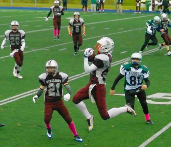 PHOTO COURTESY WWW.STLAZAREFOOTBALLNEWS.INFO Troy Lendvay Catch - Midget