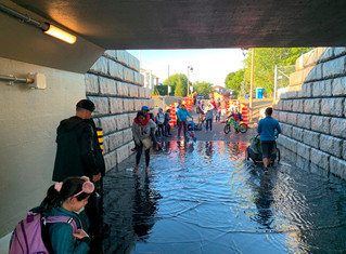 Minor flooding hits new pedestrian tunnel