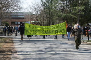 Marching for Sandy Beach woods