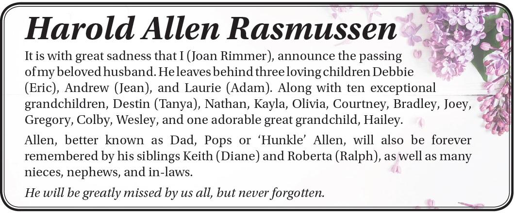 Harold Allen Rasmussen