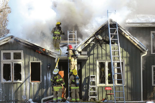 Devastating blaze destroys Hudson family home