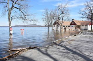 Hudson Yacht Club weathering the flood waters