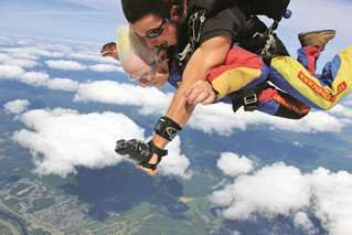 Emily Aird makes skydiving debut freefalling in St. Jerome