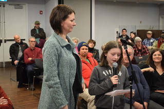 Children thank Saint-Lazare council for their efforts to preserve remaining forest canopy