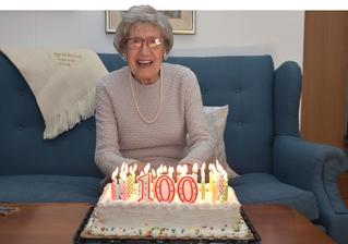 Hudson's Maxine Bredt celebrating a century