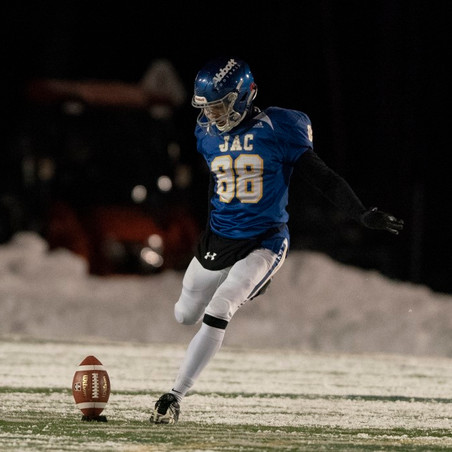 John Abbott player gets a kick at the NCAA