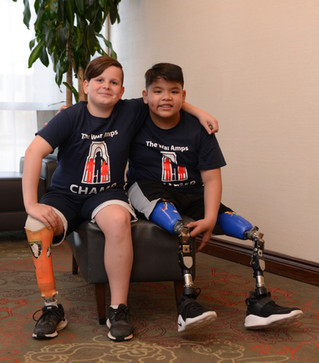 Young amputee to share special moment with fellow 'Champ' this holiday season