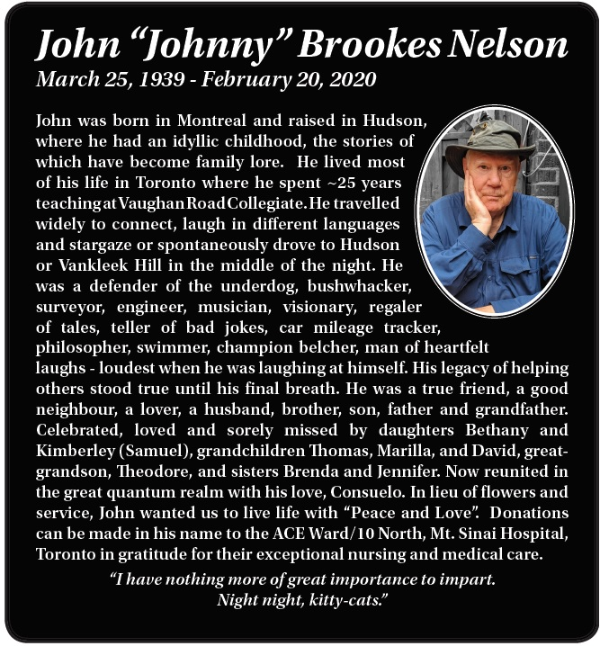 John 'Johnny' Brookes Nelson