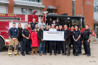 Ninth Annual Cunninghams Pub/Whitlock Golf Tournament donates $4000 to Hudson Firefighters' Food