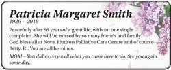 Patricia Margaret Smith