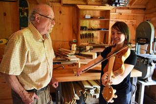 Tuning up a recreation of Samuel de Champlain's fiddle