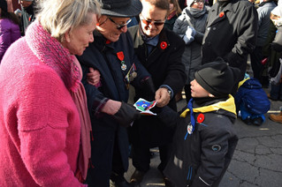 Youngster pays personal tribute to veteran at Hudson Remembrance Day ceremony