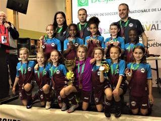 Hawks U9FAA Take GOLD in the Laval Cup