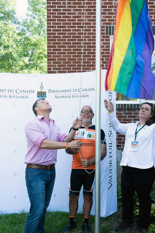 Second annual Pride flag raising in Vaudreuil-Soulanges