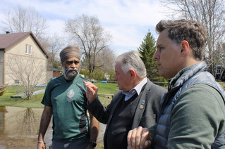 Canada's Defence Minister tours flooded area of Rigaud