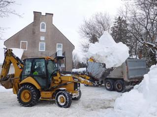 Good news – no tax increase; bad news – snow woes