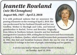 Jeanette Rowland