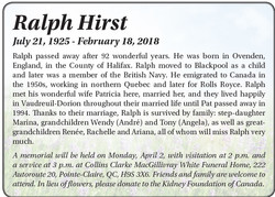 Ralph Hirst