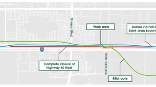 Highway 40 west closure info