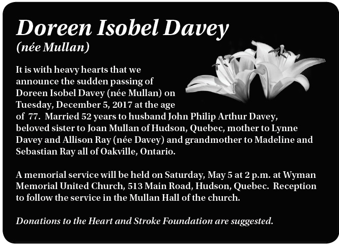 Doreen Isobel Davey