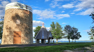 Pointe-du-Moulin windmill undergoing major renovation work