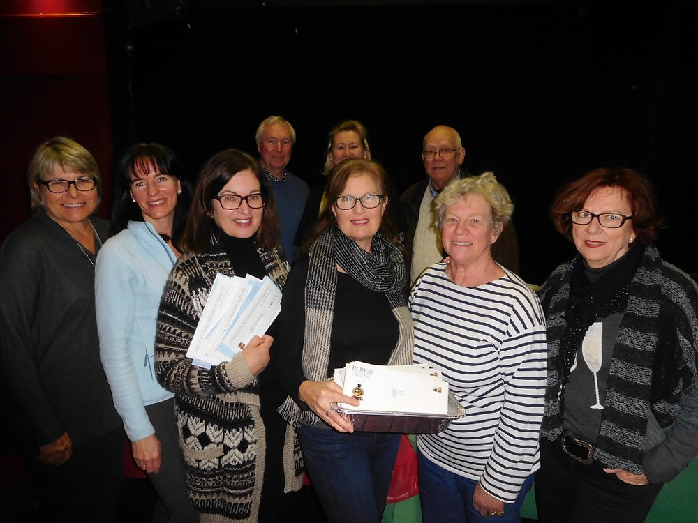 PHOTO BY JAMES PARRY Supporters of Hudson Village Theatre were busy preparing a fundraising mailing this week that will see an anonymous donor matching every dollar raised up to $50,000.