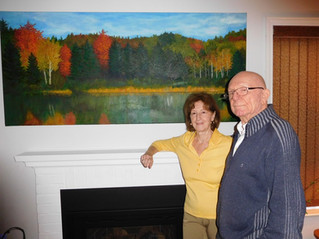 Super senior Marcel Bradley still painting at 92 years young in his home town of Hudson
