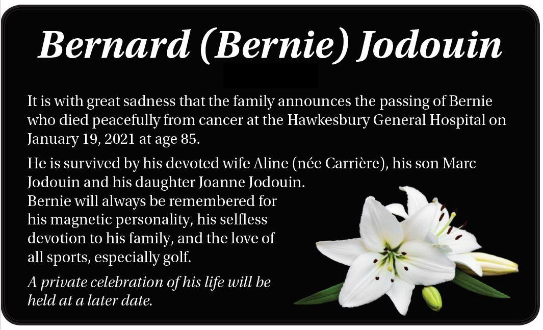 Bernard (Bernie) Jodouin